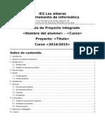 Plantilla para proyecto integrado de 2º de ciclo superior.
