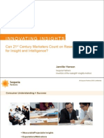 Innovating Insights