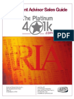 The Platinum 401k Advisor Sales Guide