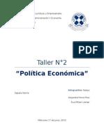 Trabajo de Politica Economica
