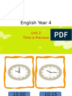 English Year 4.Ppt Time is Precious
