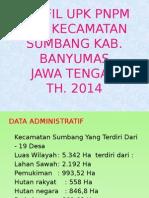 Profil UPK PNPM Sumbang 2014