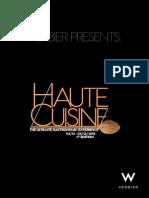 'HAUTE CUISINE 2015' - THE ULTIMATE GASTRONOMIC EXPERIENCE.