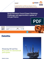 World Petroleum Council Expert Workshop 2014