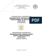 Zbornik ITRO 2015