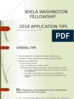 Yali Application Tips