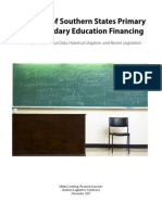 Overview of Southern States Primary and Secondary Education Financing