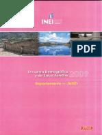 Junin 2009 Encuesta Demografica y de Salud Familiar Endes