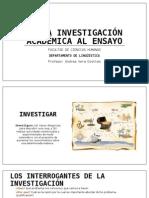 PPT_De La Investigación Académica Al Ensayo
