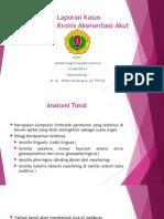 Tonsilitis Kronis Eksaserbasi Akut