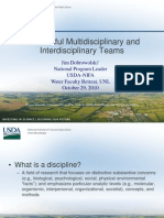 successful multidisciplinary and interdisciplinary teams - why bother