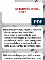 Redação Oficial  - Exercícios (CESPE)
