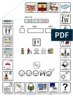 Agenda con pictogramas de ARASAAC sobre actividades diarias realizadas en casa.