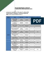 Calendario Talleres- Charlas y at Punto MIPE 2015 Septiembre 2015
