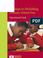 Six Steps to Abolishing Primary School Fees