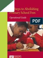Six Steps to Abolishing Primary School Fees