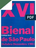 16 Bienal - Catálogo Geral