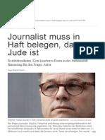 Journalist Muss in Haft Belegen, Dass Er Jude Ist