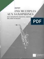 Les Sons Multiples Au Saxophone - Daniel Kientzy