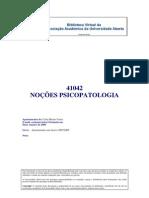 41042 - Noções de Psicopatologia- (Apontamentos) Carla Marina Vieira