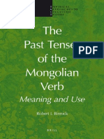 The Past Tenses of the Mongolian Verb. Meaning and Use