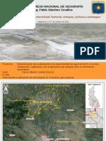 Presentación del artículo afectación a la disponibilidad de agua en torno a la mina Yanacocha. 2015