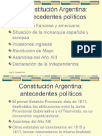 Antecedentes Constitucion Argentina 1853