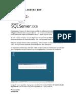 Instalando SQL SERVER2008