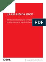Normativa Destructoras DIN 66399