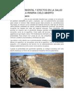 Impacto Ambiental y Efectos en La Salud en La Mineria Cielo Abierto