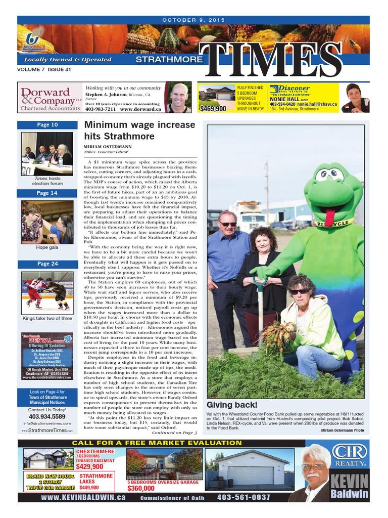 October 9, 2015 Strathmore Times | Taxes | Canada