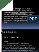 Energía Eólica, generación eléctrica.