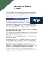 LPG - La Vía Para Mejorar Las Finanzas Públicas Es Crecer - 08 10 15