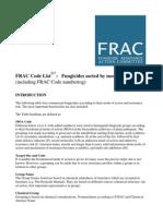 FRAC - Fungicidas ordenados pelo modo de ação - 2007