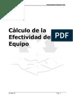 Unidad03-Calculo de La Efectividad Del Equipo