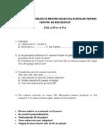 00 Test Matematica IV- V