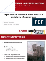 Brazil 2014ugm Imperfections in Structural Resistance of Submarines