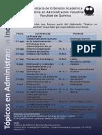Segundo Cartel de Conferencias Del Diplomado Tópicos 2015