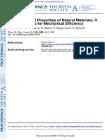 The Mechanical Properties of Naturals Materials II