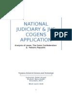 National Judiciary & Jus Cogens