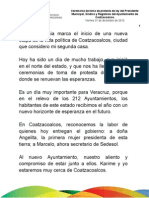 31 12 2010 - Ceremonia de toma de protesta del Ayuntamiento de Coatzacoalcos