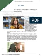 Premio 2015_ La Bielorrusa Svetlana Alexiévich, Premio Nobel de Literatura _ Cultura _ EL PAÍS