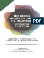 2015 CEDAW Women's Human Rights Award Program