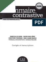 Grammaire Contrastive Para Hispanhablantes A1-A2_ Corriges Et Transcriptions