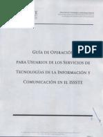 Guías de Operación Para Usuarios de Los Servicios de TI