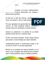 30 12 2010 - Comida Decembrina con Sociedad Civil de Coatzacoalcos