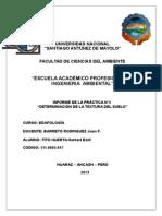 Edafologia - Informe 05 (Determinacion de La Textura Del Suelo)
