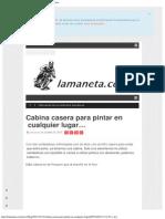 Cabina Casera Para Pintar en Cualquier Lugar… _ Lamaneta