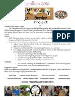 cotillion service project handout 2016