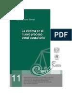La Victima en El Nuevo Proceso Penal Acusatorio